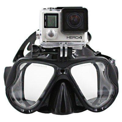 Маска для подводного плавания Telesin с креплением для Экшн камер (GoPro /SJcam /Xiaomi)